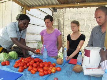 Investourists get to know a business in Dar es Salaam, Tanzania.