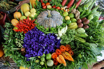 The harvest is on display at the Seed Saving Festival