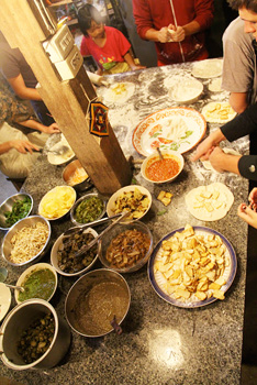 The Panya Pizza Party, will all the toppings
