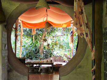 The Sala makes a wonderful place to read, eat talk or nap in hammock.