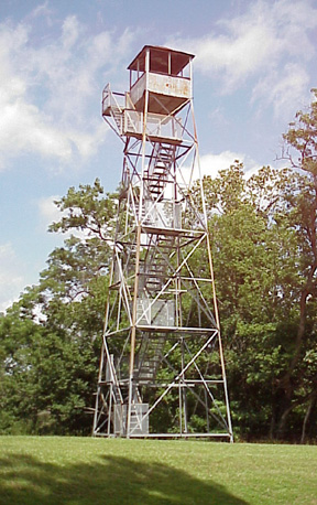 Climbing atop this 75 foot observation tower, visitors can see where Grant's troops gathered to mount their assault on the Confederate soldiers at Fort Cobun and Fort Wade. photo courtesy of the park.