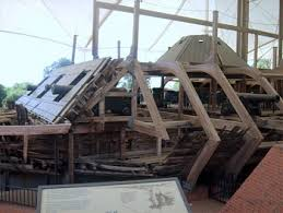 The wreck of the USS Cairo, which was brought up from the river and is on display in Port Gibson, MS.