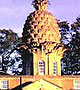 A pineapple-shaped tower that's rented out to visitors by the Landmark Trust