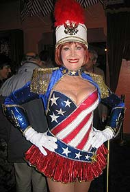Gorgeous Follies performer: well-endowed, well-preserved, well-everything.
