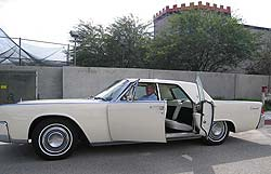 The author in Vintage Vehicles 1963 Lincoln Continental.  This is a great car to rent for your Palm Springs visit.