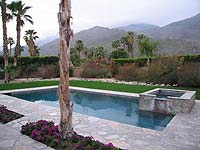 The private pool and garden of 'The House' at the Triangle Inn, Palm Spring's best travel secret.