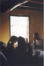 Inside the Refugio Italia.