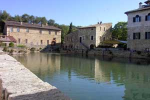 The village of Bagno Vignoni