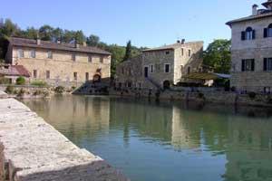 The village of Bagno Vignoni