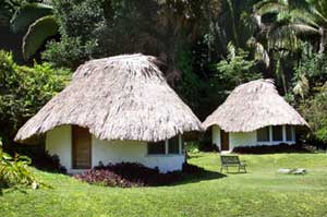 The cabanas at Pook's Hill Lodge are built in the traditional Mayan style. Photos courtesy of Pook's Hill Lodge