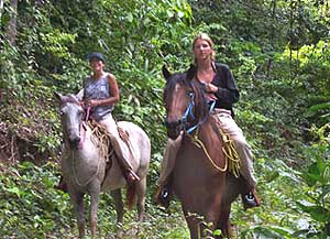 Horseback riding is one of many activities at the lodge.