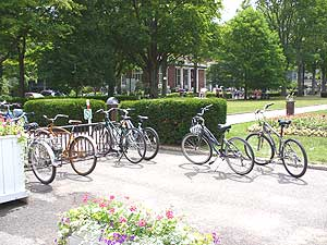Biking is the main form of transportation on the grounds of the Institution (other than walking, of course).