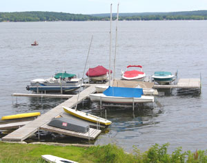 Chautauqua Lake is a perfect place for boating and other fun water sports.