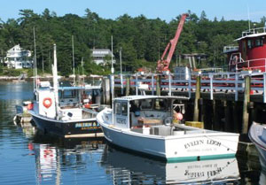 Lobsterboats in Cozy Harbor