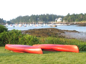The rental on Southport Island was a perfect place for sea kayaking.