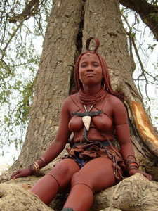 This Himba woman's headdress shows she is married.
