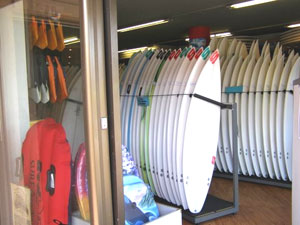 Surfboards for sale or rent in Byron Bay.
