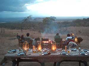 A dinner at Campi ya Kanzi
