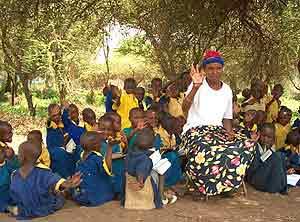 A Maasai school at Campi ya Kanzi