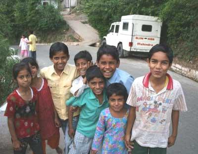 Children in Mandi