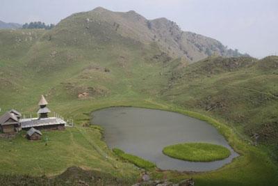 Prashar Lake and its temple