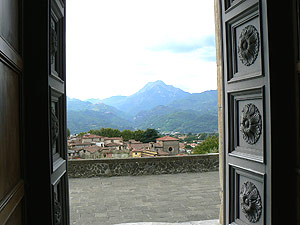 View from inside the church in Barga, Italy. photos by Max Hartshorne.