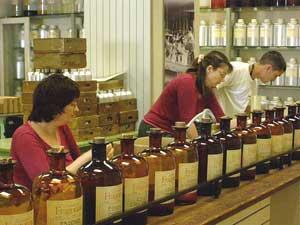 Testing perfumes at Grasse