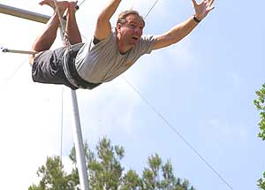 Johnny Jet on the flying trapeze