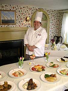 Chef Gerald Bonsey with some of his creations