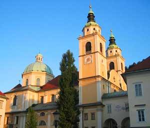 St Nicholas Cathedral in Ljubljana, Slovenia