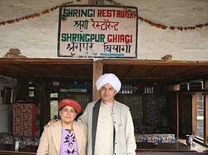 Mr. and Mrs. Manohar Lal at Shringi Vatika - photos by Mridula Dwivedi