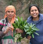 Mridula Dwivedi with a Shringi village lady