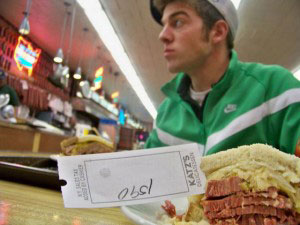 Upon entry to Katz's you get a ticket which serves as a bill on the way out.