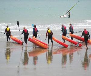 The adventurous memebers of the clan went sea kayaking.