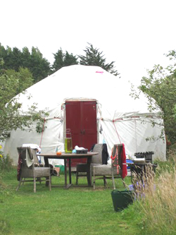A yurt for rent on the Isle of Wight. photos by Meredith Bower.