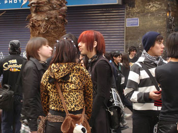 Goths, neo-Goths, and pseudo-Goths, downtown Santiago