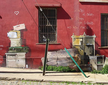 Valparaíso -- Leave no surface unpainted or empty of poetry!