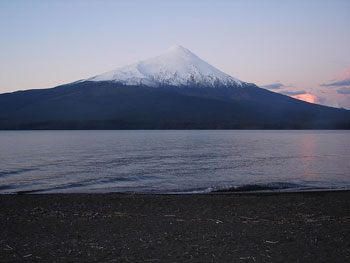 The Osorno Volcano at Lake Llanquihue -- Darwin himself watched this baby erupt in 1835.
