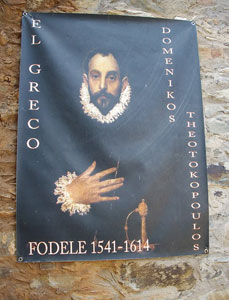 Poster at the El Greco residence