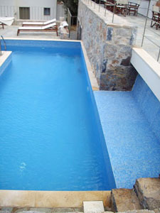 The pool at the Mourtzanakis Residence.