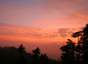 Sunset in Naldehra