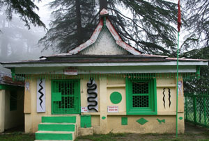 The temple at the Naldehra golf course