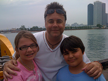 Dwight and kids in Boston Harbor