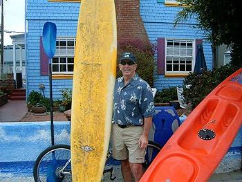 Ed Kushins at his Hermosa Beach, CA home