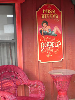 Miss Kitty's Bordello Room at the Apache Spirt Ranch