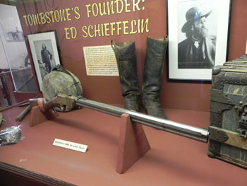 Ed Schieffelin's rifle in the Tombstone Courthouse State Historic Park