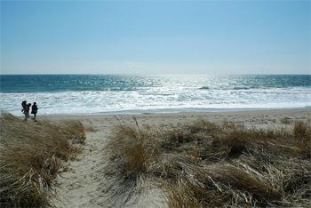 The beach at Watch Hill, Rhode Island.