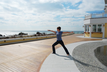 Yoga by the sea at the Ocean House.