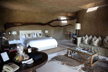 My room at the Sabi Sabi Earh Lodge