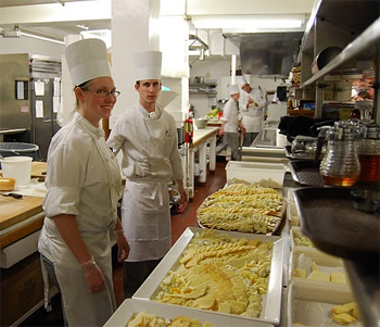 Guests enjoy tours of the spacious Balsams Kitchens during their stays.